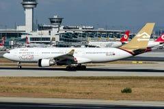 5A-LAU libyska flygbolag, flygbuss A330-200 Royaltyfri Fotografi