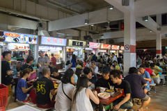 Lau Pa Sat Foodcourt i Singapore Royaltyfri Fotografi