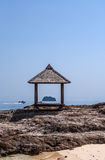 Laube auf dem seahore Stockbilder