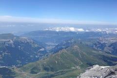 Lauberhorn, Tschuggen, Mannlichen mountains in Bernese Alps Royalty Free Stock Photography