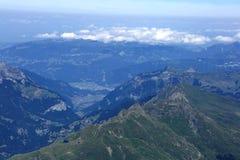 Lauberhorn, Tschuggen, Mannlichen mountains in Bernese Alps Stock Image