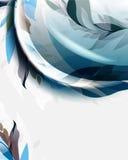 Laubwellen-Elemente Temp des Vektors eleganter abstrakter Lizenzfreies Stockbild