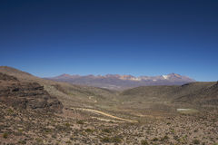 Lauca National Park on the  Altiplano of Northern Chile. Landscape of the altiplano in Lauca National Park, northern Chile Stock Photography