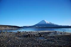 Lauca National Park - Chile. Lake Chungara  in Lauca National Park, located in north Chile Stock Photos
