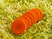 Lauch und Karotte stockfotos
