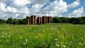 Lauchhammer gammal industriell monument lager videofilmer