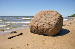 Laucu akmens stone in Latvia Baltic sea resorts Stock Image