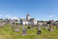 Lauder Old Parish Church. Was built in 1673 and is situated in Lauder, the Scottish Borders. The church has an octagonal central tower royalty free stock image