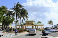 由海,佛罗里达,风雨如磐的海洋的Lauderdale 免版税库存图片