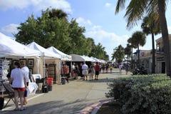 由海,佛罗里达的Lauderdale工艺节日 库存图片