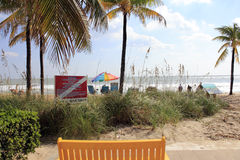 由海,佛罗里达的秋天天Lauderdale 免版税图库摄影