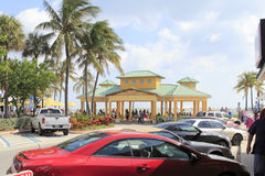 风雨如磐的海洋,由海,佛罗里达的Lauderdale 库存照片