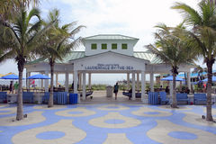 Lauderdale by the Sea Pavilion. Lauderdale-By-The-Sea, FL, USA - September 20, 2014: Pavilion with a sign, Relax…you're here LAUDERDALE-BY-THE-SEA. A Royalty Free Stock Photos