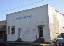 Laudromat在Sardis密西西比公立图书馆里 库存照片