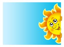 Lauernder Sun auf Himmel Lizenzfreies Stockfoto