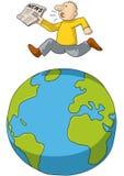 Lauf auf der ganzen Welt Stockbild