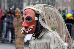 Laufar mask. Carnival mask laufar from Cerkno - Slovenia on Dragon carnival in Ljubljana 9.2.2013 Stock Image