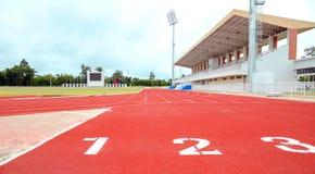 Laufbahn für die Athleten Hintergrund, Athlet Track lizenzfreie stockfotografie
