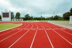 Laufbahn für die Athleten Hintergrund, Athlet Track lizenzfreies stockbild