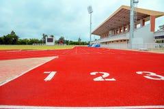 Laufbahn für die Athleten Hintergrund, Athlet Track lizenzfreie stockbilder