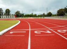 Laufbahn für die Athleten Hintergrund, Athlet Track stockfotografie