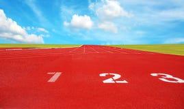Laufbahn für die Athleten Hintergrund, Athlet Track lizenzfreie stockfotos