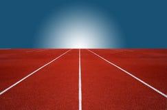 Laufbahn für die Athleten Hintergrund, Athlet Track stockfoto