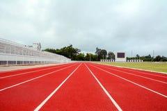 Laufbahn für die Athleten Hintergrund, Athlet Track stockbild
