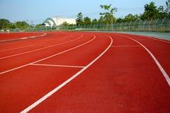 Laufbahn für die Athleten Hintergrund, Athlet Track lizenzfreies stockfoto