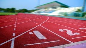 Laufbahn f?r die Athleten Hintergrund, Athlet Track stockbilder