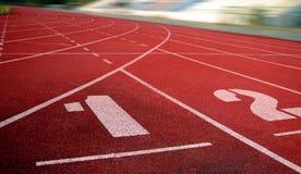 Laufbahn f?r die Athleten Hintergrund, Athlet Track stockfoto