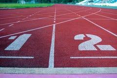 Laufbahn f?r die Athleten Hintergrund, Athlet Track stockfotografie
