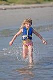 Laufen auf Beach2 Lizenzfreies Stockbild