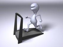 Laufen auf eine Tretmühle Stockbild