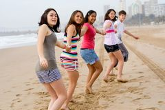 Laufen auf Strand Lizenzfreies Stockfoto