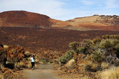 Laufen auf Vulkan Lizenzfreie Stockbilder