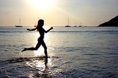 Laufen auf Wasser Lizenzfreies Stockbild