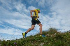 Laufen in den Bergen Stockbild