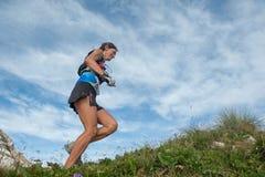 Laufen in den Bergen Lizenzfreie Stockbilder