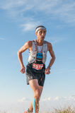 Laufen in den Bergen Lizenzfreies Stockfoto