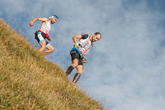 Laufen in den Bergen Lizenzfreies Stockbild