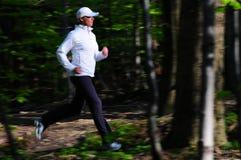 Laufen in den Park Lizenzfreies Stockfoto