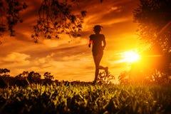 Laufen in den Park Lizenzfreie Stockfotos