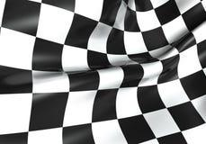 Laufen der checkered Markierungsfahne Lizenzfreies Stockbild