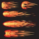 Laufen der Flammen Stockbilder