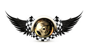 Laufen des Emblems Stockbilder