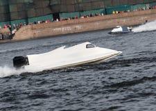 Laufen des Motorboot-F1 Stockfotografie