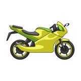 Laufen des Motorrades Einzelne Ikone des extremen Sports im Karikaturartvektorsymbolvorrat-Illustrationsnetz lizenzfreie abbildung