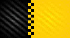 Laufen des orange Hintergrundes, TaxiAbdeckung Schablone stock abbildung