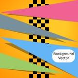 Laufen des quadratischen Hintergrundes Vector Abstraktion beim Laufen, Schachart mit Raum für Ihren Text Abbildung für Ihre Ausle stock abbildung